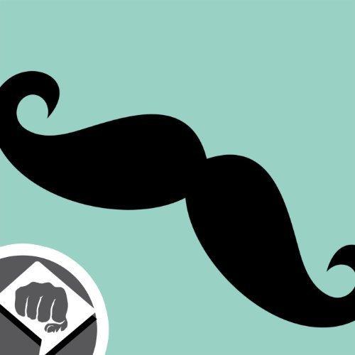 BART SCHNURRBART Moustache Mustache Aufkleber - Sticker Bomb Aufkleber Decal - Sticker Bombing NEU - DUB DUBWAY (weiß)