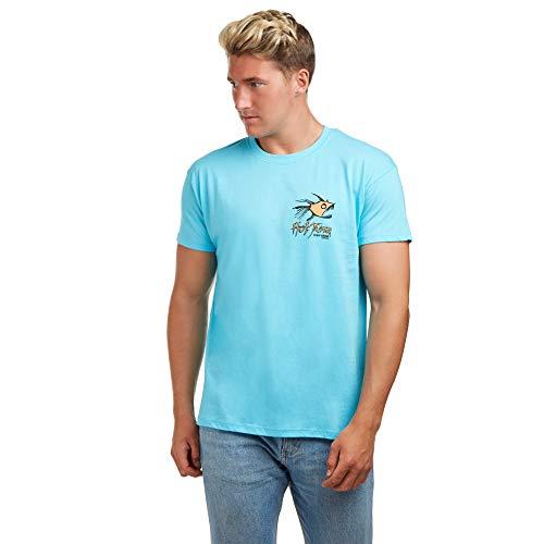 Hot Tuna Herren Retro Piranha T-Shirt, Blau (Atoll Blue Abl), X-Large - Hot Herren T-shirts