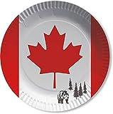 10 Teller * KANADA * für Party und Geburtstag von DH-Konzept // Pappteller Partyteller Party Fete Set Ahorn Canada