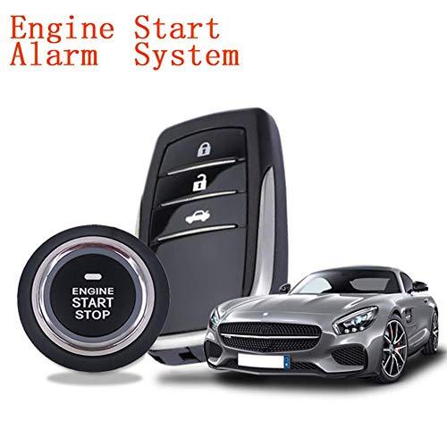 Lancei Universal Auto Keyless Entry System, 12 V Auto SUV Keyless Entry Auto-kompatibles Alarmsystem Push Button Remote Starter Anti-Theft Auto Autozubehör Werkzeug