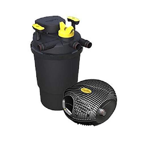 Backwash System (Laguna PT1731 Druckfilter und Hochleistungspumpe, Schwarz/Gelb, 45 x 45 x 60 cm)