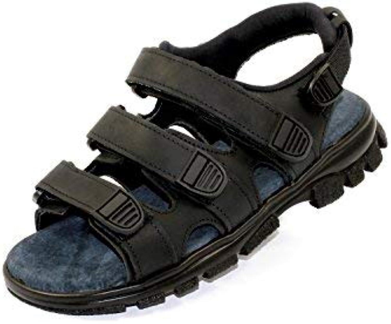 euro dan walki sandale avec velcro, Noir  o e e e une src Noir  taille: 6 b00gj77k1u parent   Belle Couleur  4aeb8e