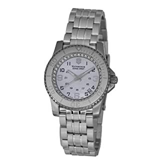 Victorinox Maverick II V.251147 – Reloj analógico de Cuarzo para Mujer, Correa de Acero Inoxidable Color Plateado