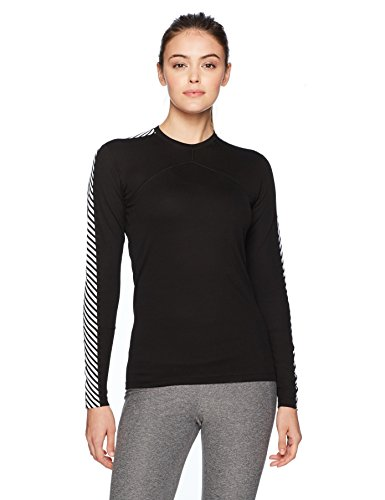 Helly Hansen Damen W HH Lifa Crew Ls Baselayer, 990 Black, M -