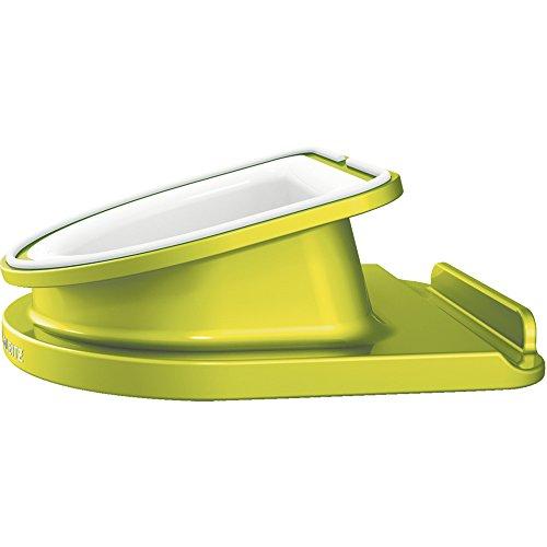 Leitz Soporte giratorio de sobremesa, Para iPad/Tablet, Posición horizontal y vertical, Verde metalizado, WOW, 62741064