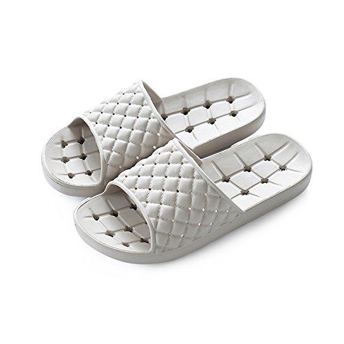 HAIZHEN Pantuflas de la casa Verano antideslizante zapatillas de baño Sweet hogar zapatillas Par fresco zapatillas Interior cuarto de baño minimalista con zapatillas 235 yardas (35-37) Para mujeres y hombres ( Color : B )
