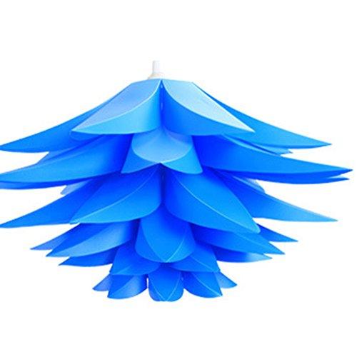 Lampenschirm Puzzle Lotus Schatten IQ PP Lampe Anhänger hängen Lenker Radaufhängung Decke, Lichter Bedroon Wohnzimmer (blau) - Schatten Lotus