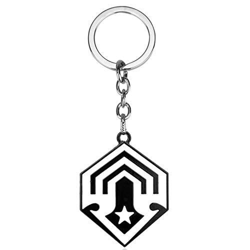 DCFVGB Schlüsselring Schmuck Halo Schlüsselbund Auto Spartan Black Logo Anhänger Schlüsselbund Damen Herren Schmuck Geschenke