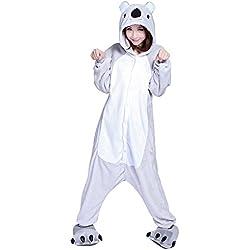 Emmarcon - Disfraz de carnaval halloween pijama cálido de animales kigurumi cosplay zoológico onesies L/altezza 170-179cm,max 100kg Koala