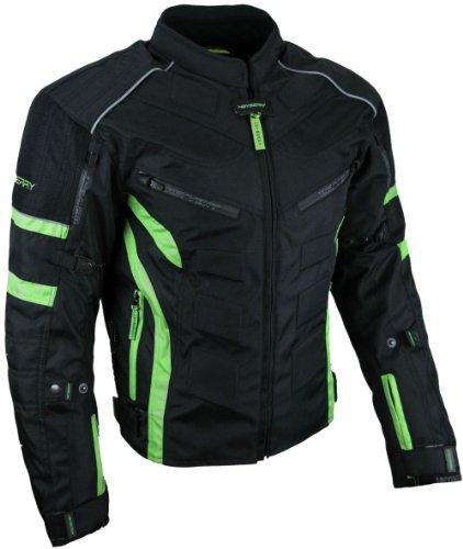 *Kurze Textil Motorrad Jacke Motorradjacke Schwarz Grün Gr. M*
