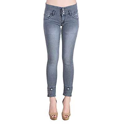 SRW Women's skin fit Denim Jeans - Contemporary Slim Fit Denims for Women -fully stretchable-Lycra Denim Jeans -Washed Mid Rise Slim fit Length Jeans-ankle length slim fit jeans for women