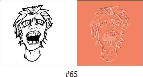 FineArt Textur Briefmarken lustige Gesichtsform Polymer Clay Formmatte 3,5 cm