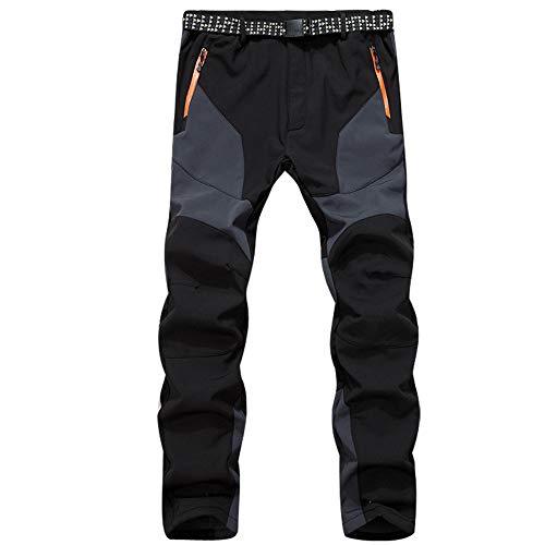 80d65c6b6b BaZhaHei Mujer Hombre Pantalones de Trekking Softshell Impermeables  Resistente Escalada Vellón cálido Pantalones cáscara Viento Impermeable