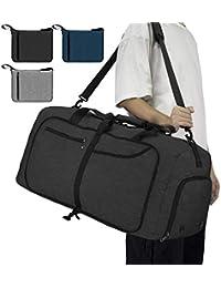 NEWHEY Borsone da Viaggio Pieghevole 65L 40L Grande capacità Duffel Bag Travel Leggero Impermeabile Borsoni da Palestra per Campeggio Viaggio Palestra Sport Vacanza Borsa Uomo e Donna