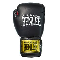 """BENLEE 1100/194006Rocky Marciano Leder Boxhandschuh""""Fighter"""", Schwarz/Rot (Black/Red), GröM-_e: 10 oz"""