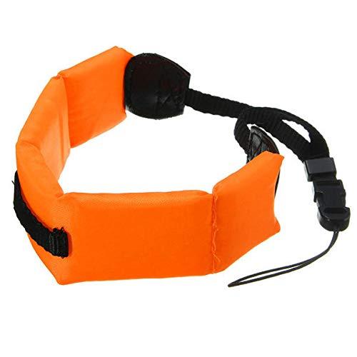 JenNiFer Diving Floating Schaumstoff Armband Wrist Strap Waterproof Für Gopro Hero 4/3+/3/2/1/Sjcam Sj4000 Sj5000 Sj6 Sj6 Sj7 Eken H9 H8 Xiaomi Yi Sport Action Camera-Orange