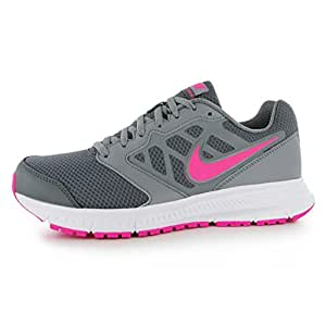 Nike Downshifter 6 Running Shoes Womens Grey/Pink Run Fitness Trainers Sneakers (UK6) (EU40) (US8.5)