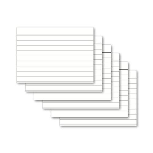Karteikarten 100 Stück A6 weiß liniert