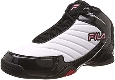 Fila Men's Gambit White, Black and Fila Red Basketball Shoes - 11 UK/India (45 EU)