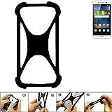 K-S-Trade Handyhülle für Huawei Y6Pro LTE Schutz Hülle Silikon Bumper Cover Case Silikoncase TPU Softcase Schutzhülle Smartphone Stoßschutz, schwarz (1x)