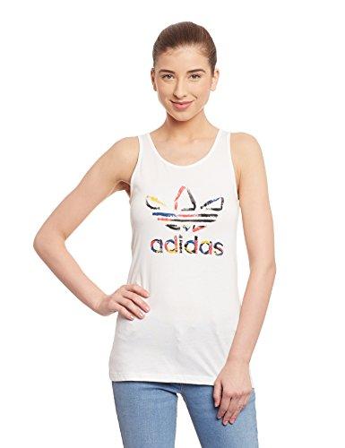 Adidas-Canotta Abbigliamento donna Originals Trefoil Donna, Donna, Oberbekleidung Originals Trefoil Tank Women, Core White, 40
