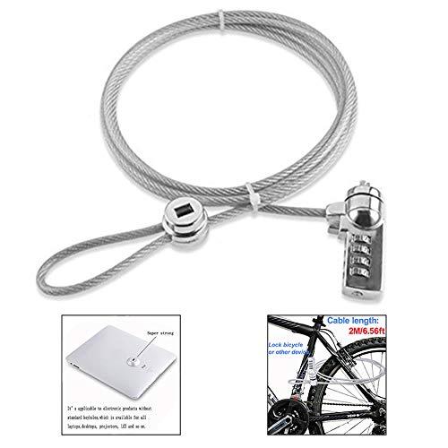 LHKJ Kabelschloss mit Zahlenkombination,Security Lock für PC Laptop Notebook(Schwarz) -