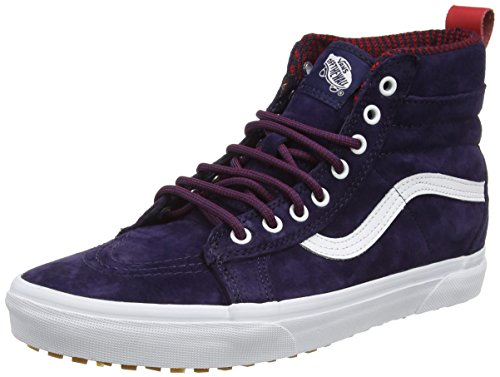 Vans U SK8-HI, Zapatillas Altas Unisex, Azul (MTE evening blue/true white), 38.5 EU