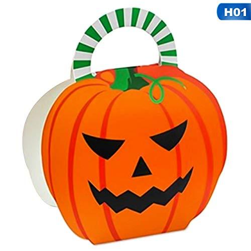 SMHILY Halloween Dekoration Kürbis Geschenkbox Süßigkeiten Geschenkbeutel Ghost Cookie Geschenkbox Container Für Kinder Kinder Halloween Box Supplies