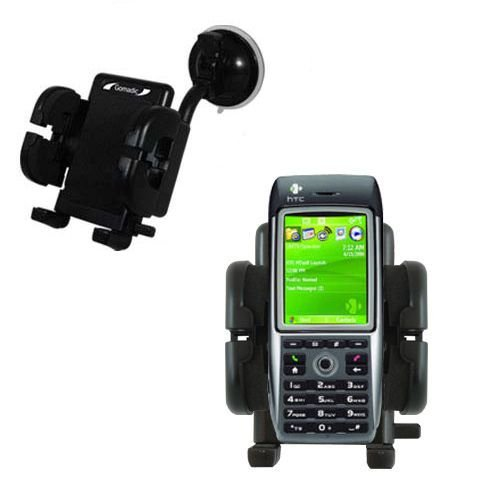 Cradle-Windschutzscheibenhalterung für das HTC MTeoR - Flexibler Schwanenhalshalter mit Saugbefestigung für KFZ / Auto. Lebenslange Garantie