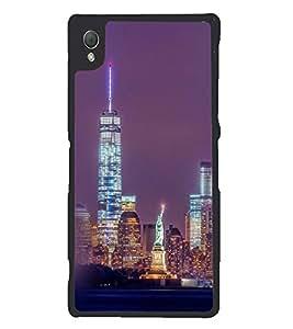 Printvisa Newyork Night View Back Case Cover for Sony Xperia Z3::Sony Xperia Z3 D6653 D6603