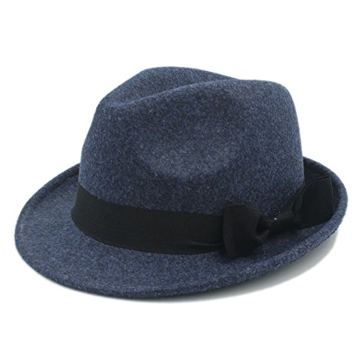 YAJIE Fedora Hat For Gentleman, Mujeres Hombres Chapeau Femme (Color : Azul, Color : 57-58cm)