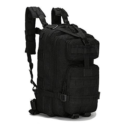 OUTERDO Militärischer Outdoor Taktischer Rucksack Camping Wandern Trekking Rucksack schwarz - schwarz