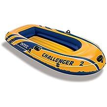 Intex Challenger 3 - Set de barco hinchable y remos de aluminio, 295 x 137 x 43 cm