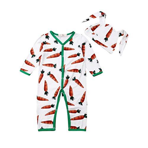 Karotten Outfit - Funboxs Neugeborenes Baby Strampler Bodysuit Jungen