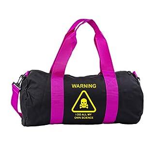Hippowarehouse warning i do all my own science Gymwear Gym Duffle Cylinder Uniform Kit Bag 50 x 25 x 25cm 20 litres