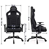 SONGMICS Bürostuhl Gaming Stuhl Schreibtischstuhl Sportsitz Chefsessel - 7