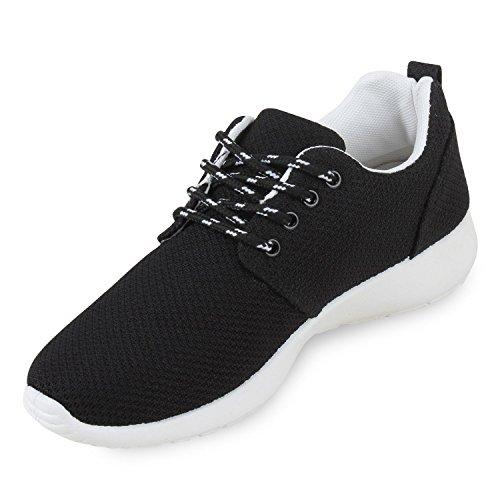 Damen Sportschuhe | Übergrößen | Trendfarben Runners | Sneakers Laufschuhe | Fitness Prints Schwarz Weiss