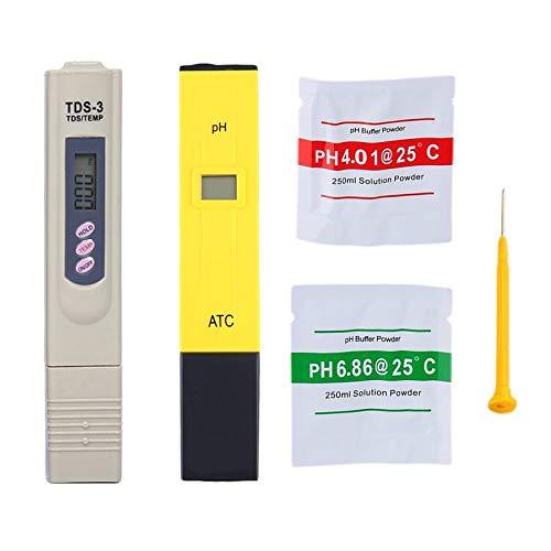 Portable Digital PH Meter Water Quality Testing Pen Purity Filter TDS Tester Aquarium Pool SPA Water Quality Monitor (Pen-light-filter)