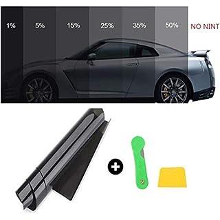 FuTaiKang Fenster Film Sun Tint Film Auto Glas Explosionsgeschützte Solar Screen Isolierung Fenster Film Dach 3 mt x 50 cm schwarz (5%)