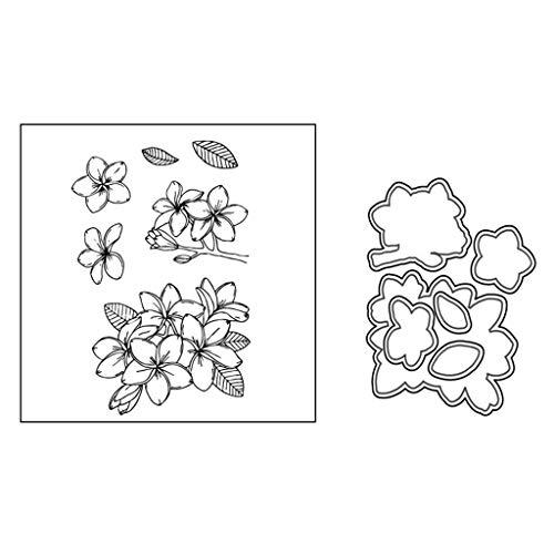 Blatt Wachs-siegel (Angelliu Transparente Stempel DIY Silikon Dichtung Blumen Blätter Scrapbooking Embossing Siegel Wachsschablone)