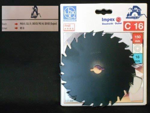 OBI LUX 117426 C16 Profi Plus HM-Kreissägeblatt 150 x 16 mm, 24 Z