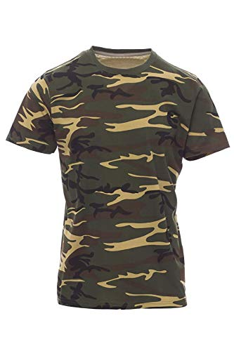 Mivaro Jungen T Shirt Camouflage, Farbe:Camouflage, Größe:110/116 - Kids Woodland Camouflage T-shirt