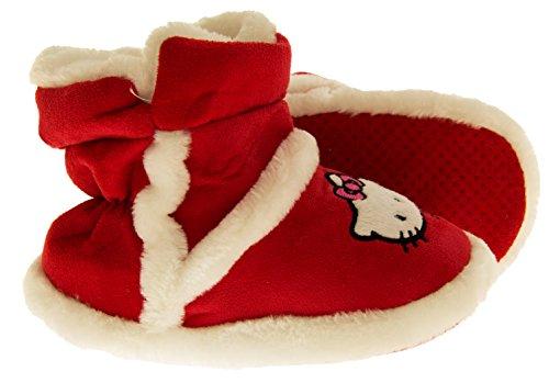 Hello Kitty Doublées de Fausse Fourrure Pantoufles Botte Filles Rouge