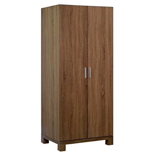 Sonoma Engineered Wood Long 2 Door Wardrobe 2 Feet (Wooden Wardrobe Cabinet FA_WD_1779_01 Brown Colour)