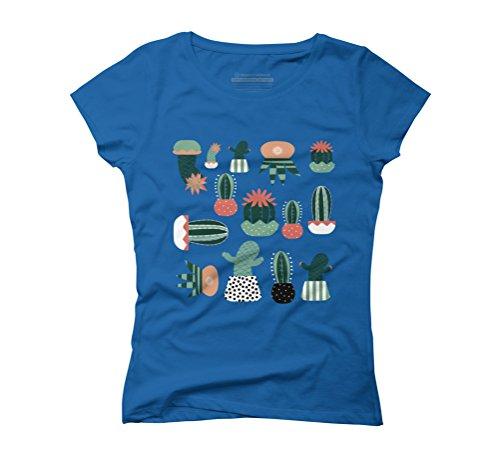 Succulents Women's Graphic T-Shirt - Design By Humans Royal Blue