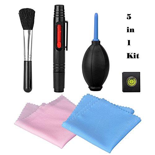 tinxi® 5-in-1 Set pulizia per Obiettivo e Digitale SLR Macchina fotografica(Canon, Nikon, Olympus, Sony, Samsung, Matsushita, Pentax & Fuji) 5-in-1 Pulizia Kit per lente ottica