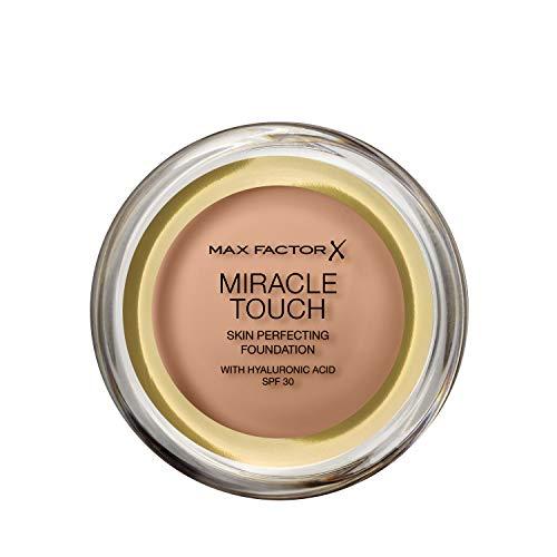 Max Factor Miracle Touch Foundation mit Hyaluronsäure für eine glatte und ebenmäßige Haut, Farbe. 80 Bronze dunkle Hauttypen, 1er Pack (1 x 11.5 g)