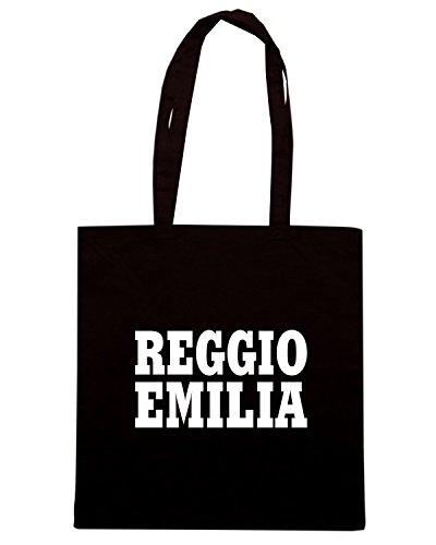 T-Shirtshock - Borsa Shopping WC0951 REGGIO EMILIA ITALIA CITTA STEMMA LOGO Nero