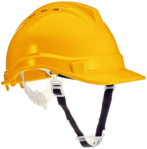 Silverline 306429 Casque de chantier Jaune
