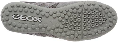 Geox Uomo Snake F, Sneakers Basses Homme Gris (Lt Grey)